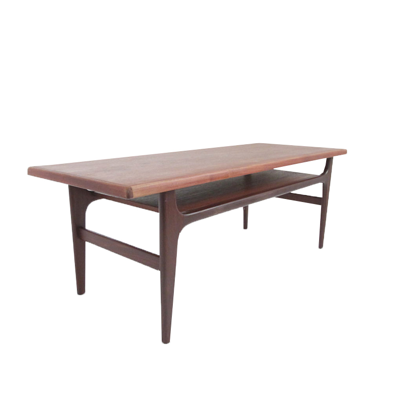 Danish Mid-century coffee table in teak and rosewood