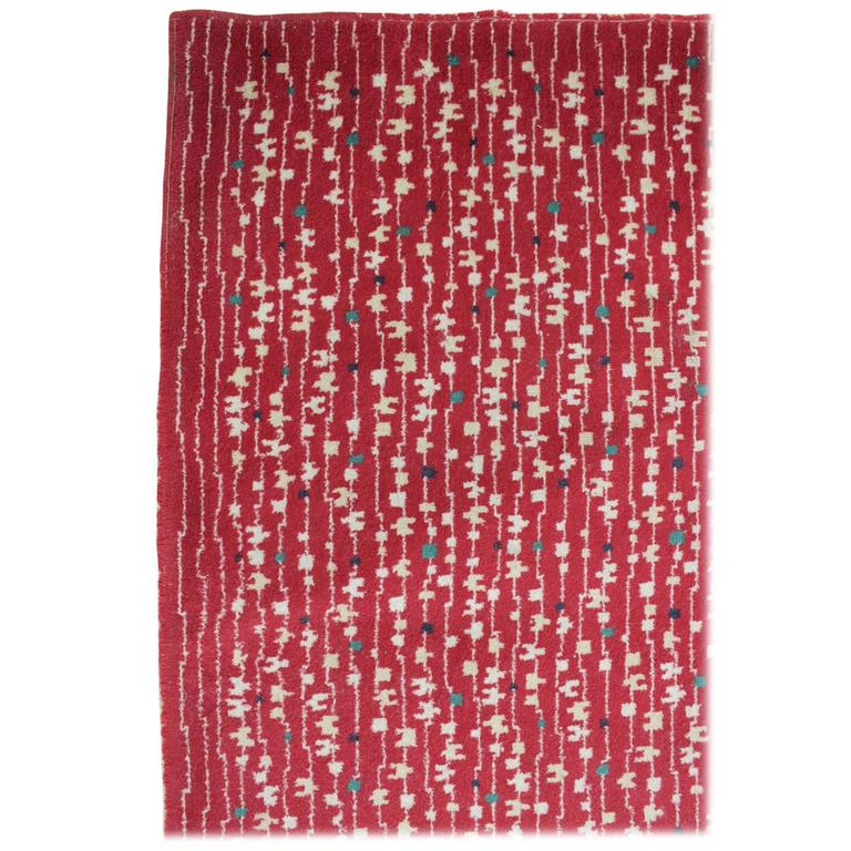 Carpet Rug, Czechoslovakia, 1950s in Style of Antonin Kybal