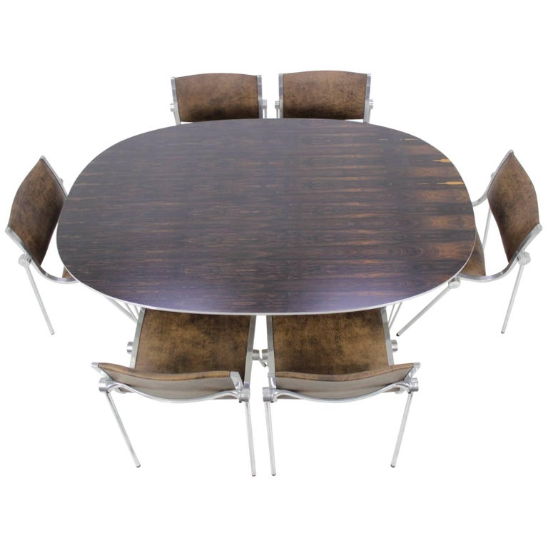 "1970s Piet Hein ""Superellipse"" Dining Table by Fritz Hansen"