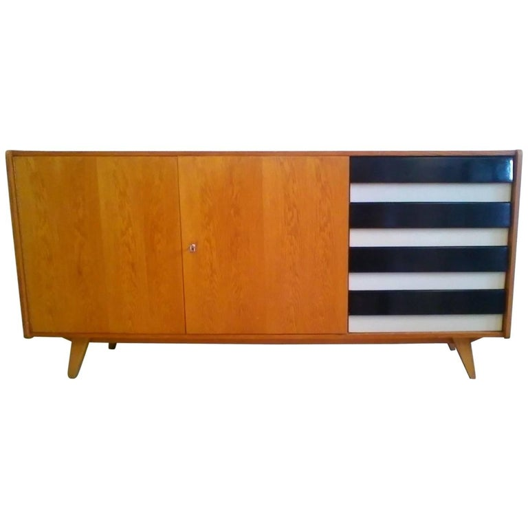 1960s Oak Sideboard by Jiroutek Interier in Prague