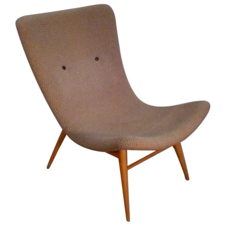 Lounge Chair by Miroslav Navratil, 1950s