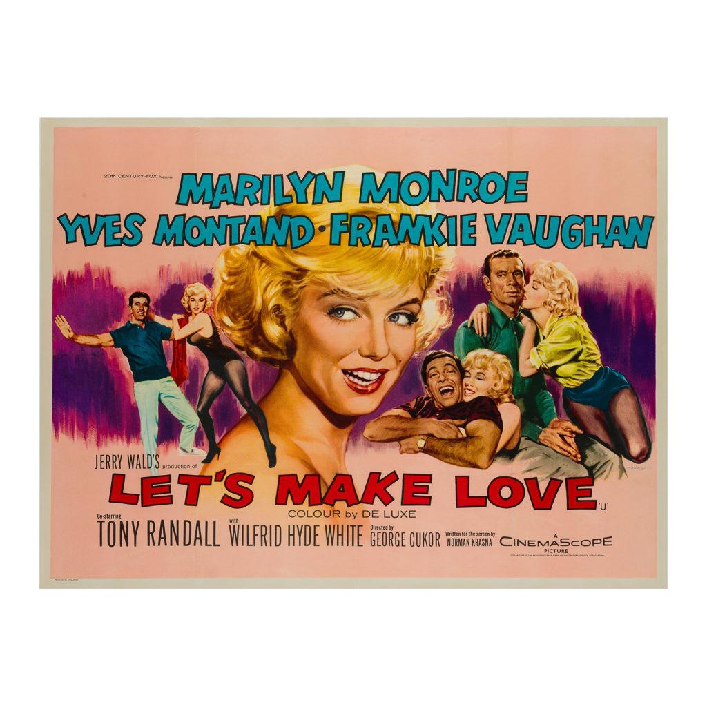 Let's Make Love 1960 UK Quad Film/Movie Poster