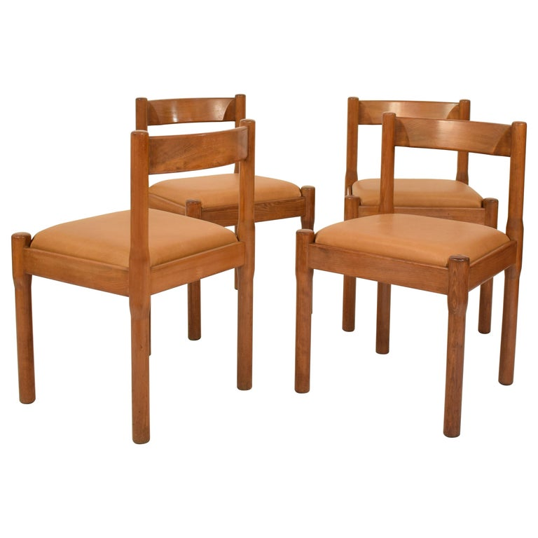 Set of Four Dining Chairs Carimate by Vico Magistretti for Cassina