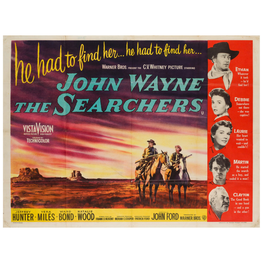 The Searchers 1959 UK Quad Film/Movie Poster