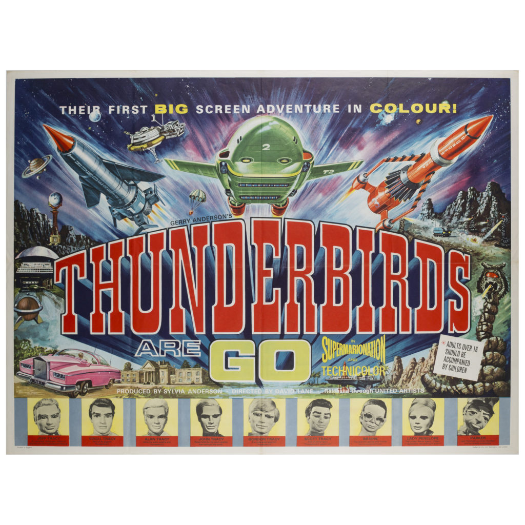 Thunderbirds Are Go 1966 UK Quad Film /Movie Poster