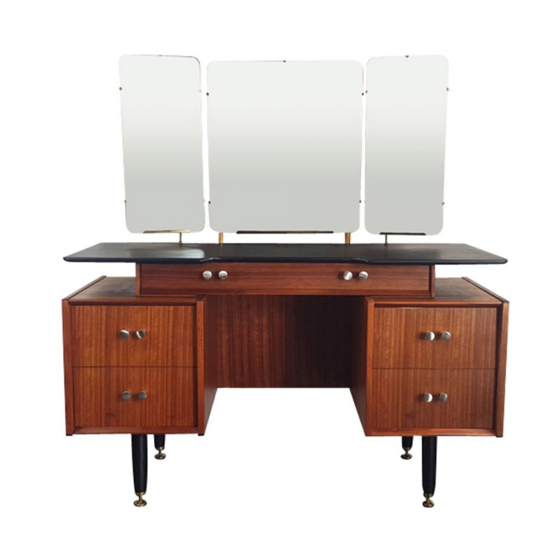 Three Mirror Floating Dressing Table by E Gomme for G-Plan, 1960s