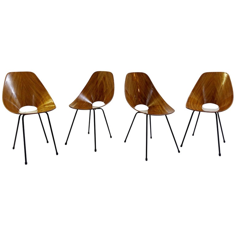 Set of four medea chairs by Vittorio Nobili
