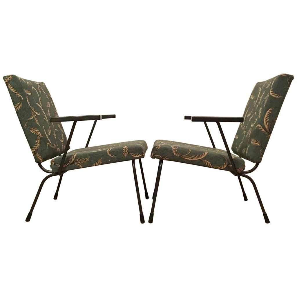 Vintage 415 /1401 Armchairs by Wim Rietveld for Gispan, 1950s, pair