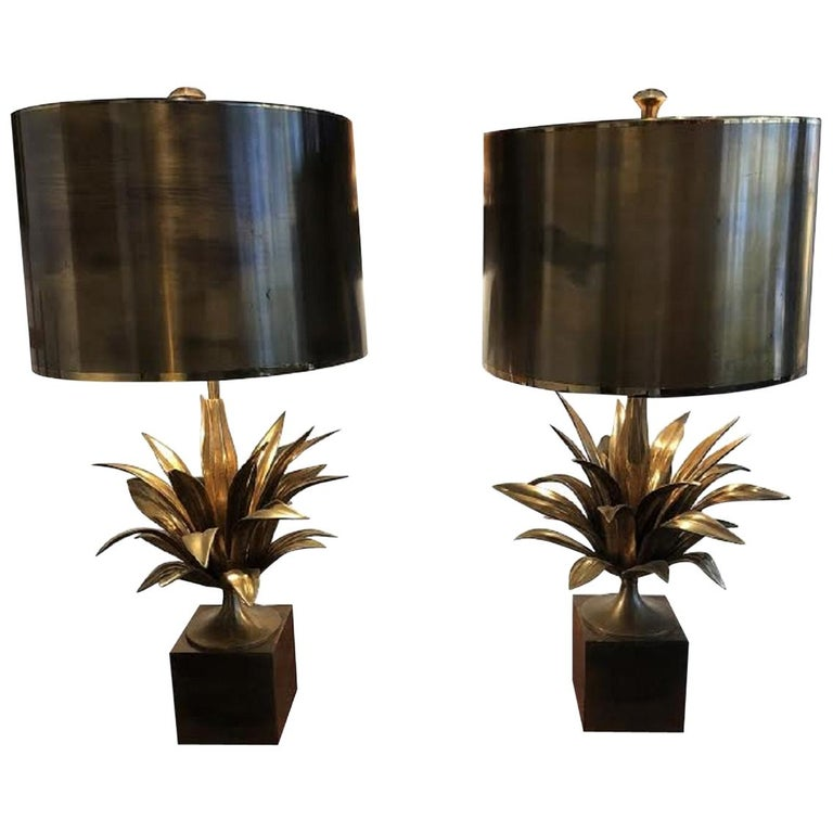 Pair of lamp by Maison Charles, circa 1970