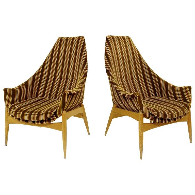 Pair of armchairs, circa 1970
