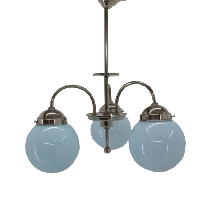 Blue Art Deco Chandelier 1930s