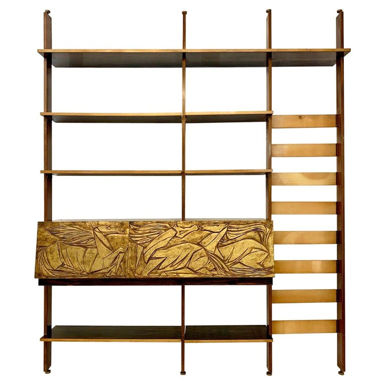 Wall unit or Bookshelf, 1950s