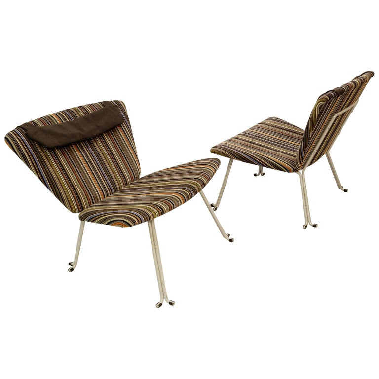 Pair of lounge chairs, circa 1970