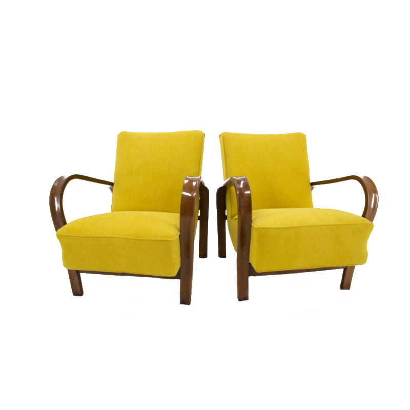 Set of Two Armchairs by Karel Kozelka and Antonin Kropacek, 1940s
