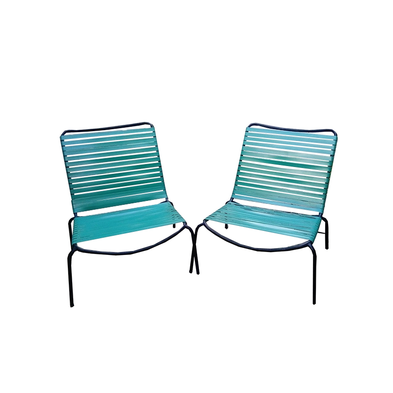 André Monpoix – Pair of fireside chairs – 1954