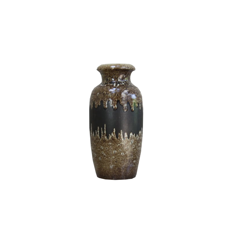 Ceramic vase from Scheurich Keramik – dark brown colors – Germany – 1970's