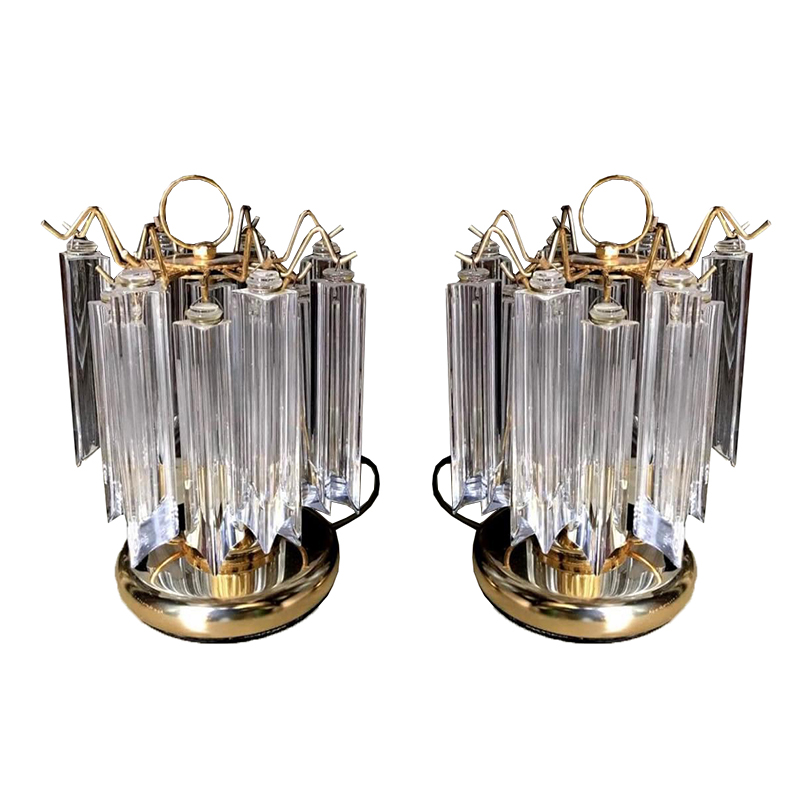 Pair of Barovier Lamps in Murano – Circa 1980