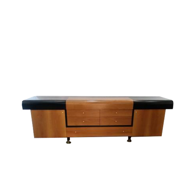 Pierre Cardin – Vintage sideboard – black lacquered wood and teak – circa 1980