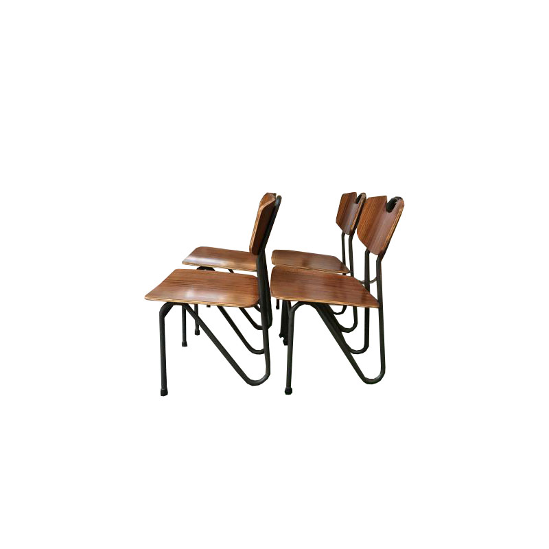 Pierre Guariche – Prefacto – Set of 4 chairs – Airborne Edition 1951
