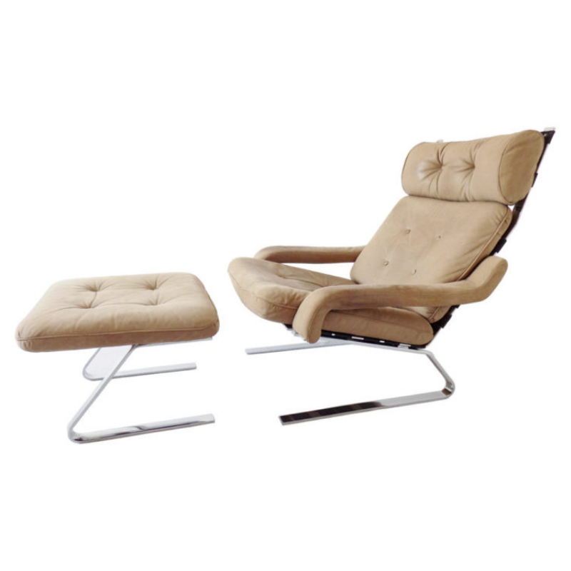 Danish Swing Lounge Chair with ottoman