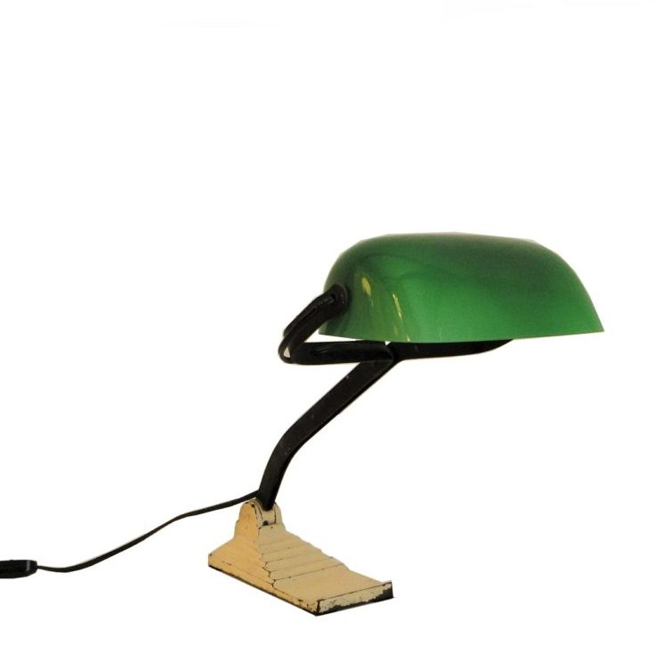Factory Desk Lamp by Erpe from Belgium, 1940s
