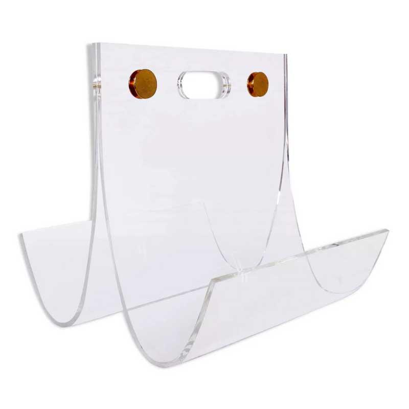 Porte revues en plexiglas et laiton