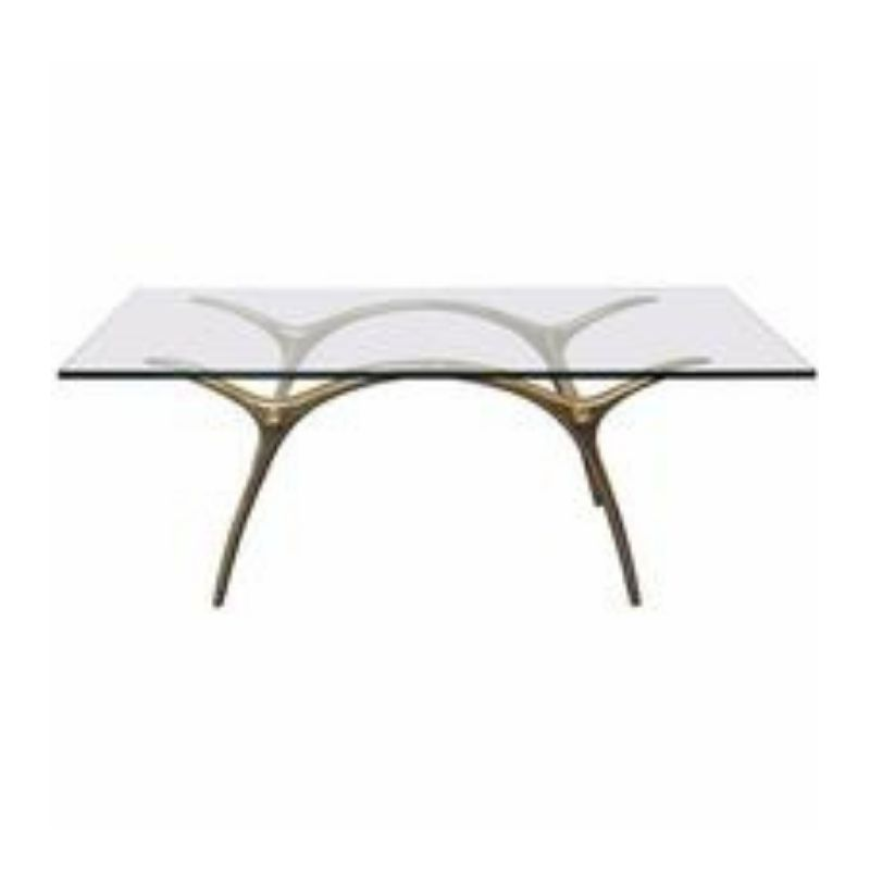 Coffee Table in Glass an Polished Brass