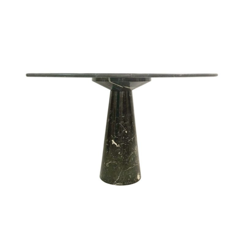 Round marble dining table by Angelo Mangiarotti