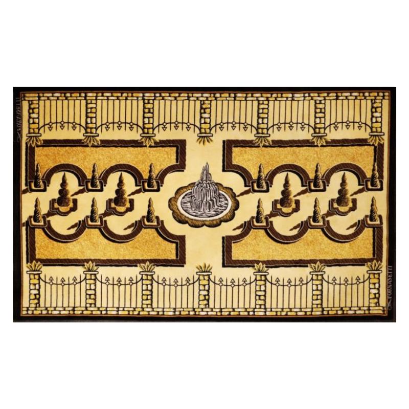 """Giardini all'italiana"" Wool Carpet by Piero and Barnaba Fornasetti"