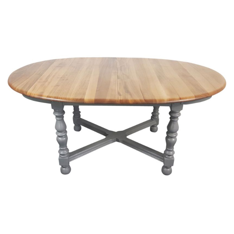 Painted Round Extending English Farm House Dining Table by Lucian Ercolani for Ercol