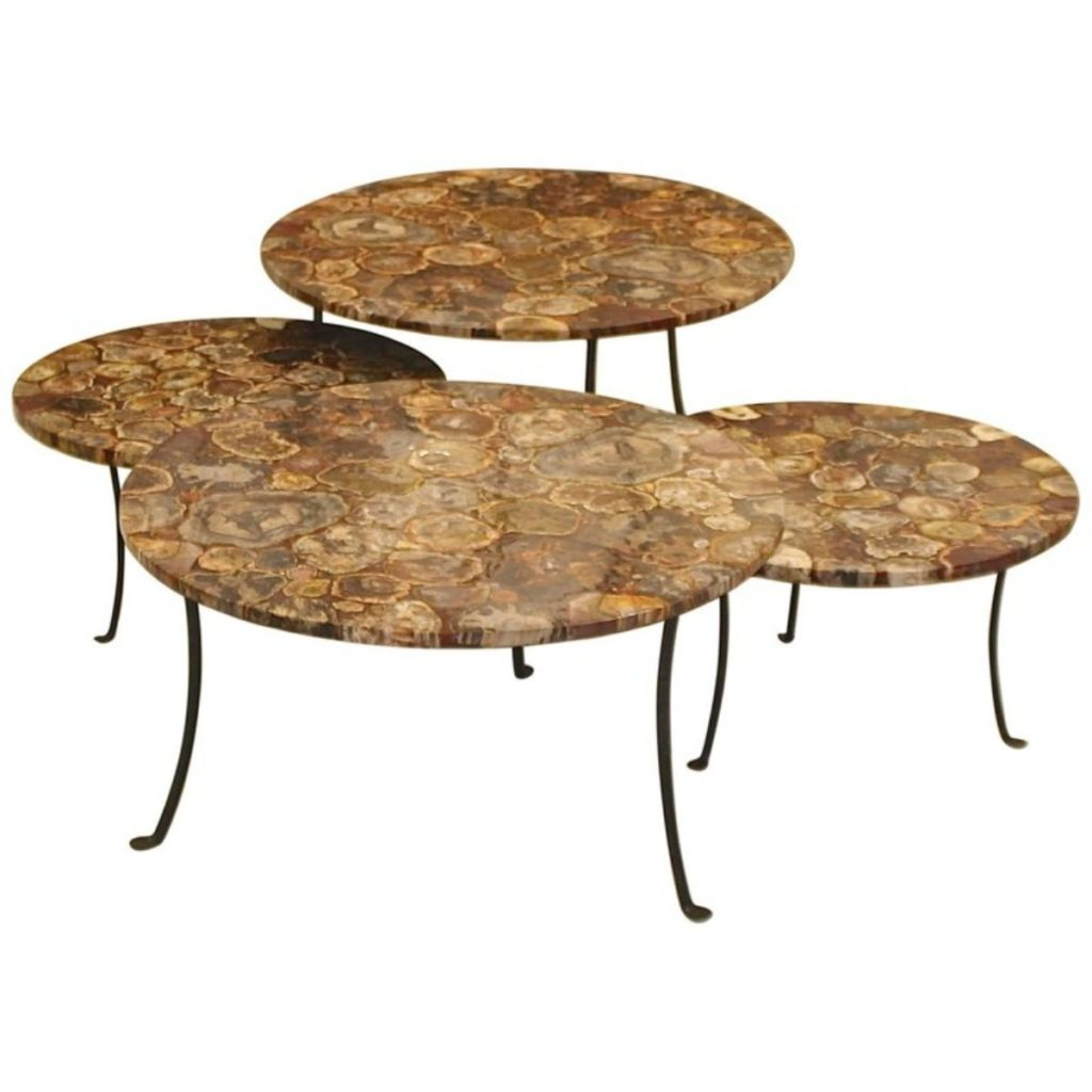 set-of-four-petrified-wood-and-wrought-iron-coffee-tables-1896388-en-max