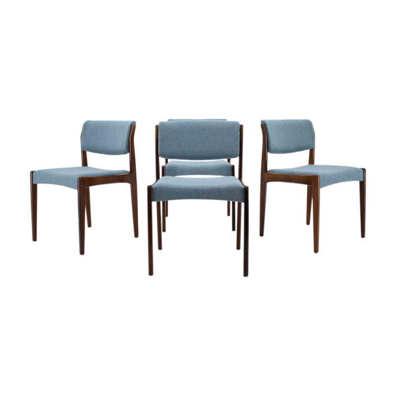 1960s Set Of 4 Palisander Dining Chairs, Denmark