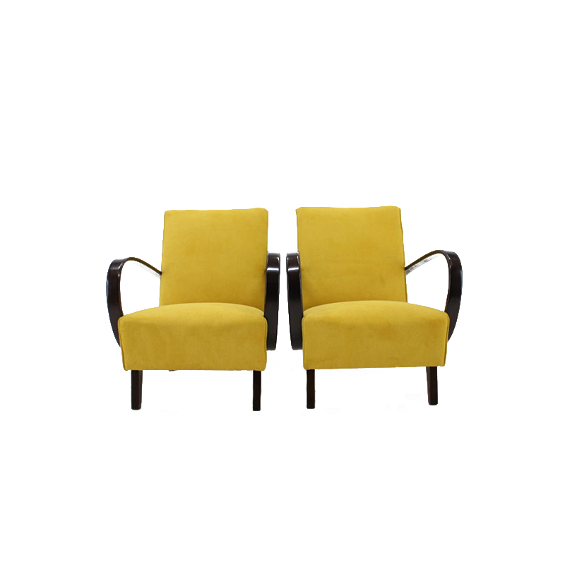 1950s Pair of Jindrich Halabala Armchair