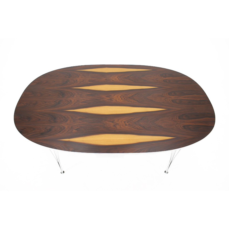 1970s Super Ellipse Rosewood Table by Piet Hein and Bruno Mathsson for Fritz Hansen