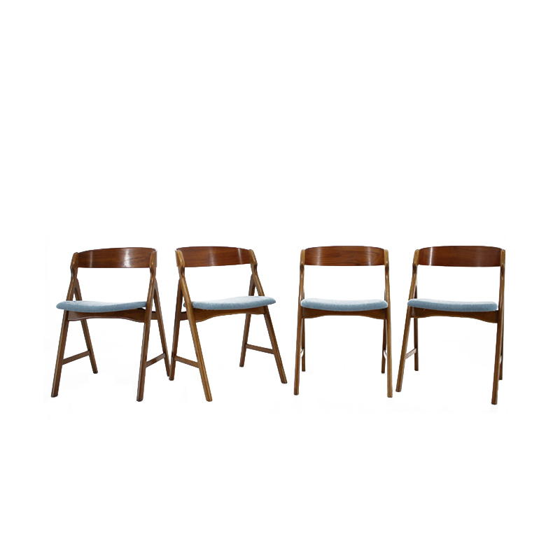 1960s Henning Kjærnulf Teak Dining Chair, Set of 4