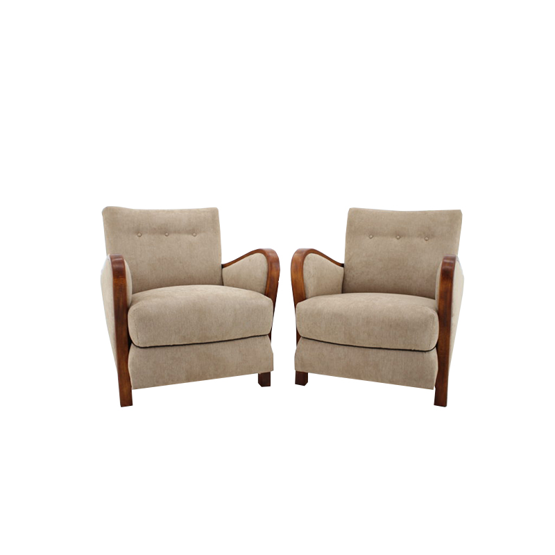 1930s Art Deco Armchair, set of 2