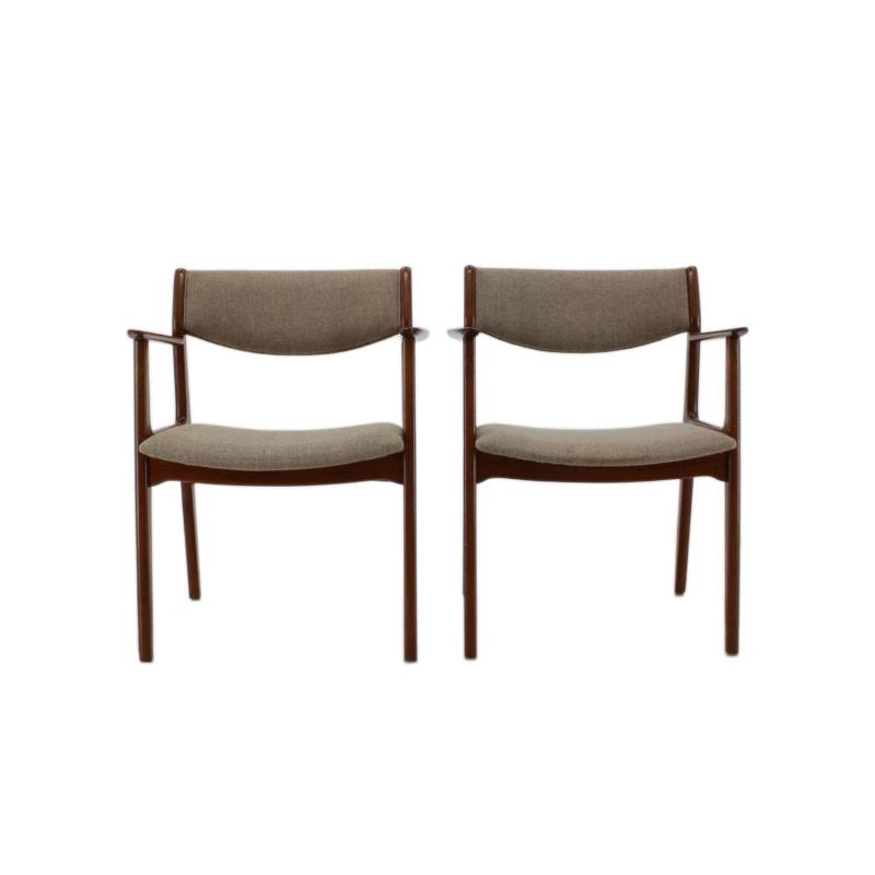 1960s Set of 2 Teak Side Chairs, Denmark