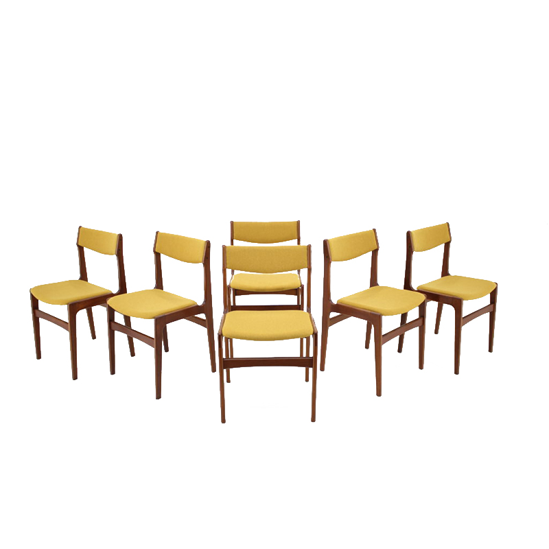 1960s Set Of 6 Teak Dining Chairs, Denmark