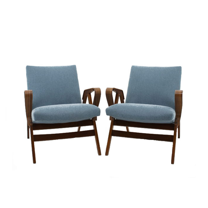 1970s Armchair by Tatra Czechoslovakia, Set of 2