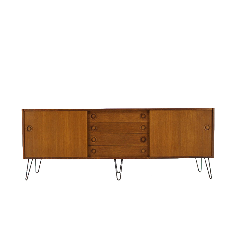 1960s Upcycled Danish Oak Sideboard