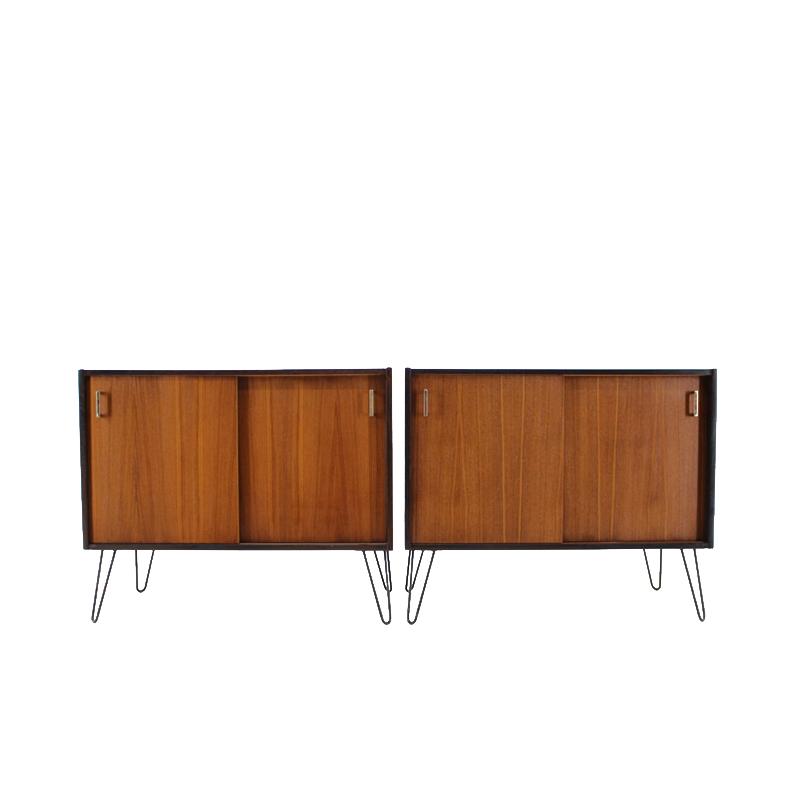 1960s Danish Upcycled Teak Cabinet, set of 2