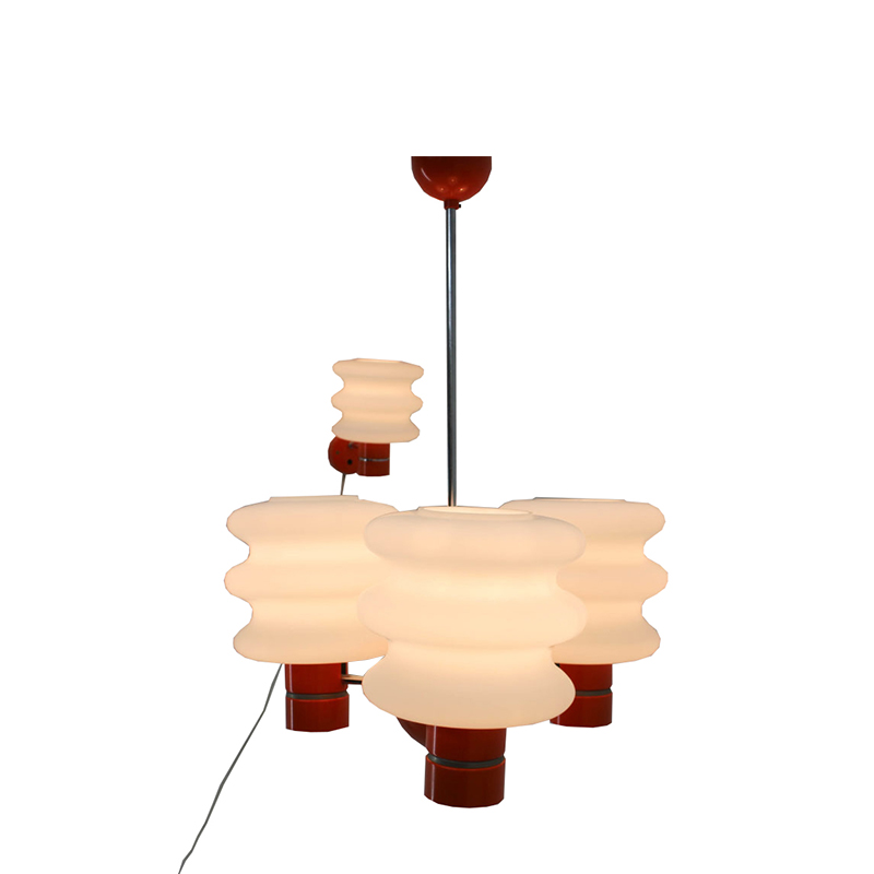 Set of Chandelier and Wall Lamp by Napako, 1970s