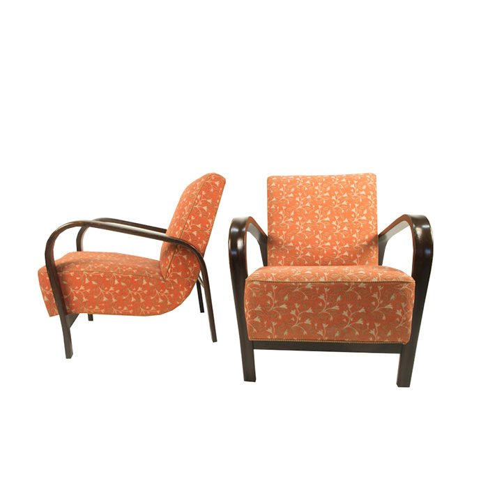 Armchairs by Kozelka a Kropacek, Set of Two, 1940s