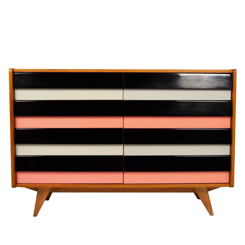Retro chest of drawers designed by Jiří Jiroutek, 1960´s.