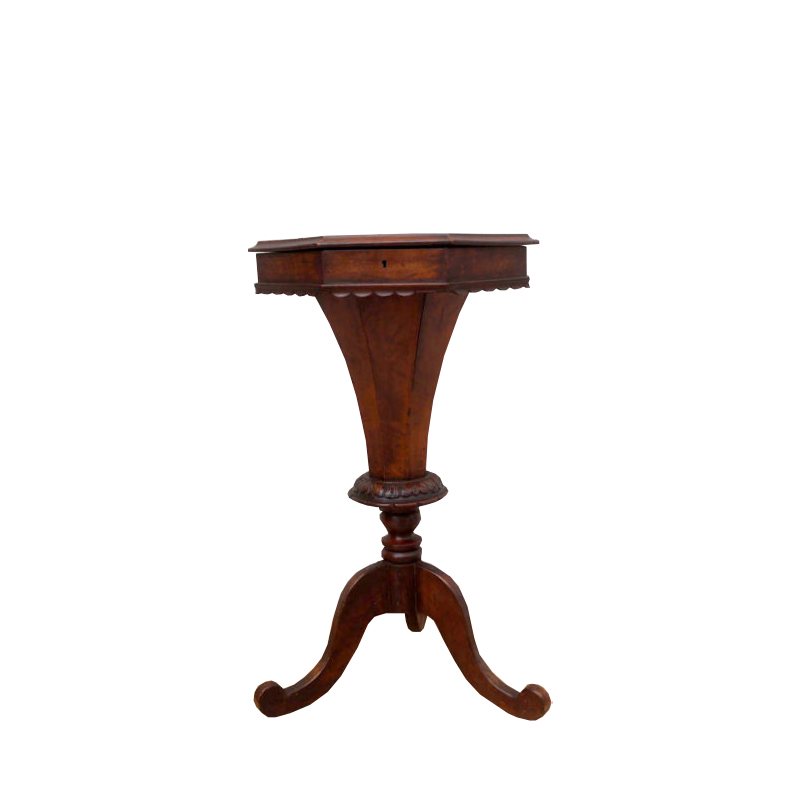 19th Century English Sewing Box Table