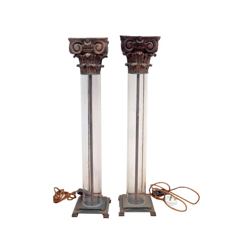 Corinthian Column Capitol Lamps