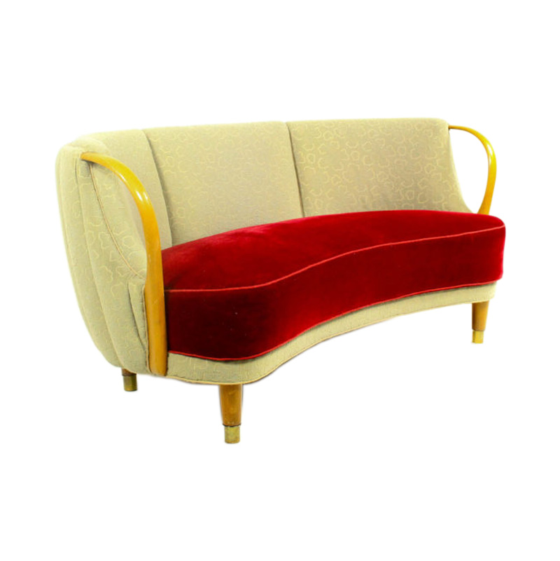 Danish curved sofa