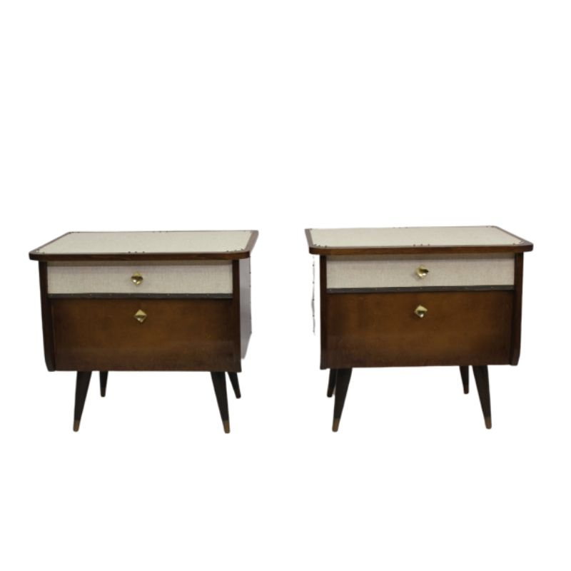 Pair of bedside tables 50, 60 restored.