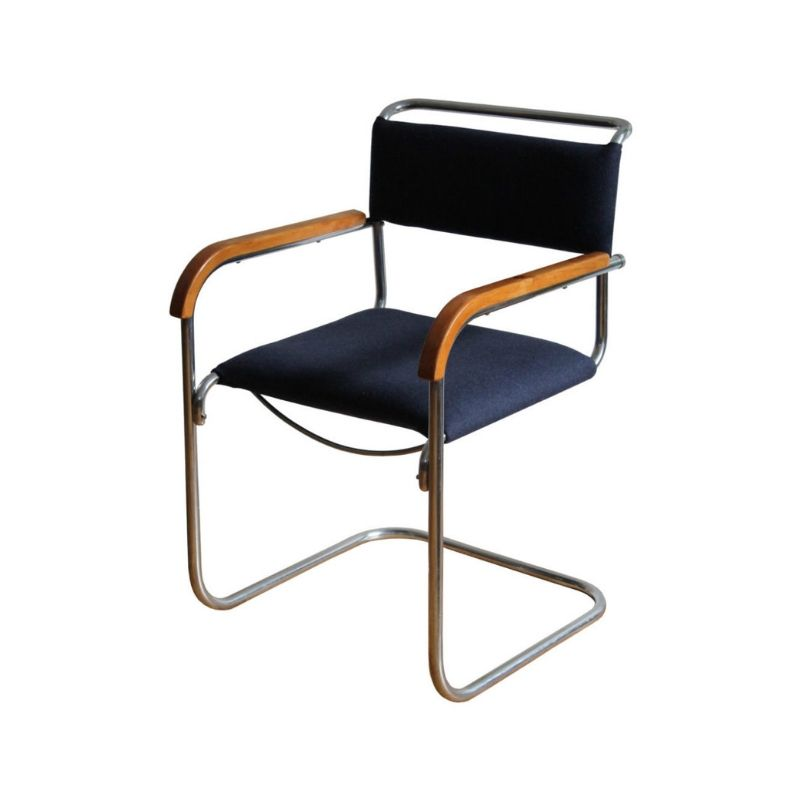 1930's Bauhaus Cantilever Chair by H.J.Hagemann for Mucke-Melder