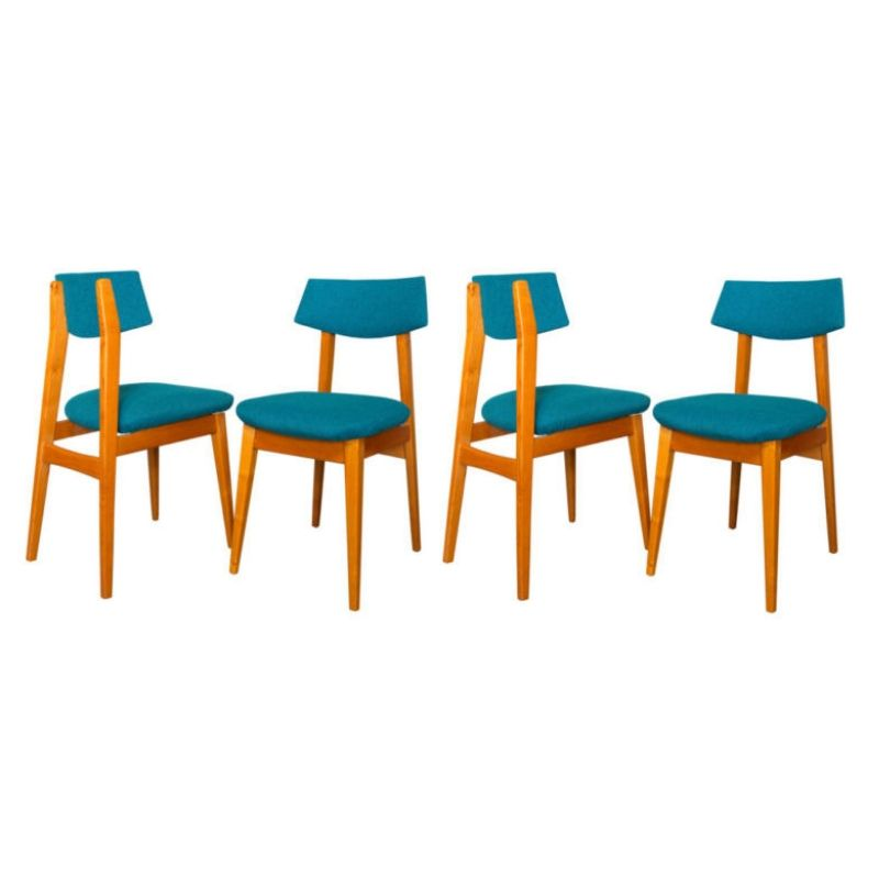 Set of Four Scandinavian Mid Century Chairs